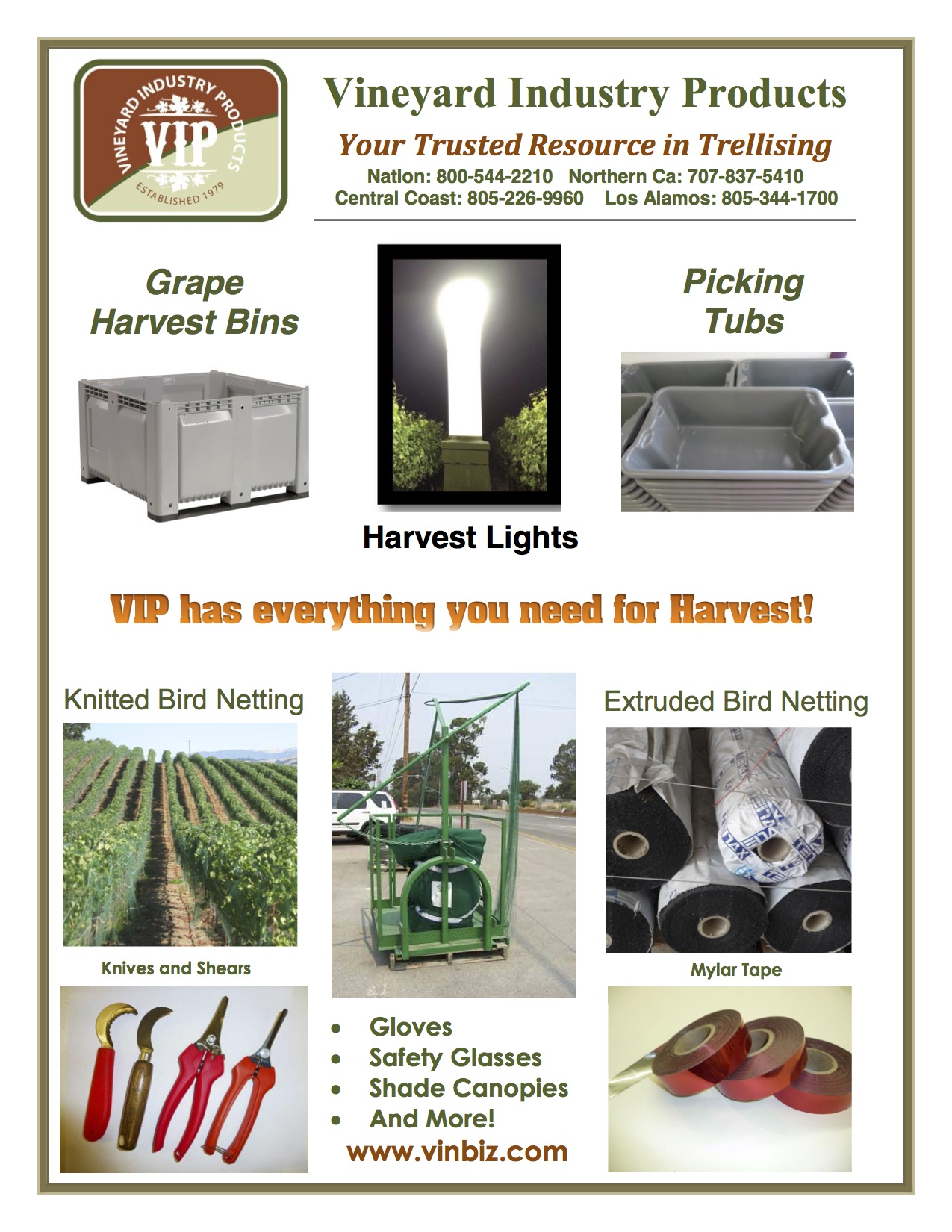 VIP Harvest Products