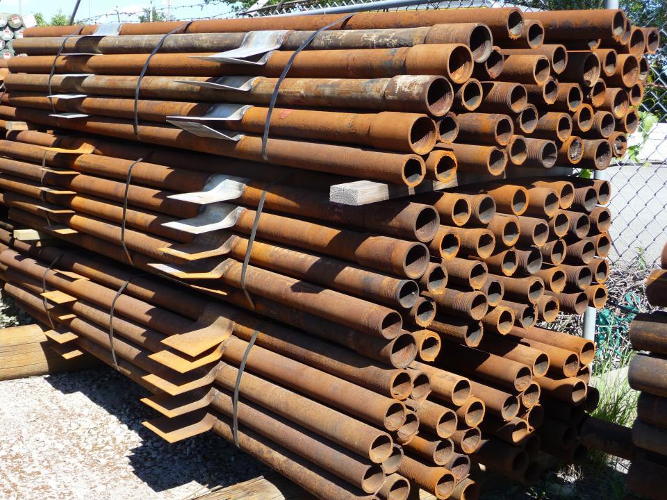 Metal Pipe End Post